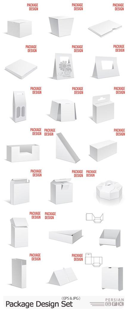دانلود وکتور طرح های آماده بسته بندی - Package Design Set