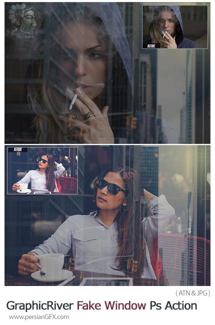 دانلود اکشن فتوشاپ شبیه سازی پنجره بر روی تصویر به همراه آموزش ویدئویی - GraphicRiver Fake Window Photoshop Action