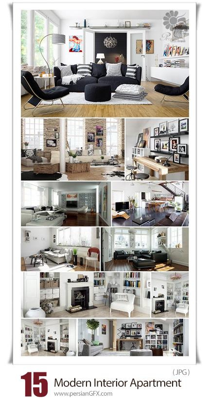 دانلود 15 عکس با کیفیت طراحی داخلی مدرن آپارتمان و خانه - The Modern Design Of The Interior Of An Apartment Or House