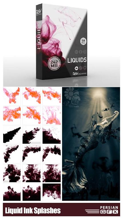 دانلود 58 کلیپ آرت جوهرهای مایع پخش شده - RAWexchange Liquid Ink Splashes