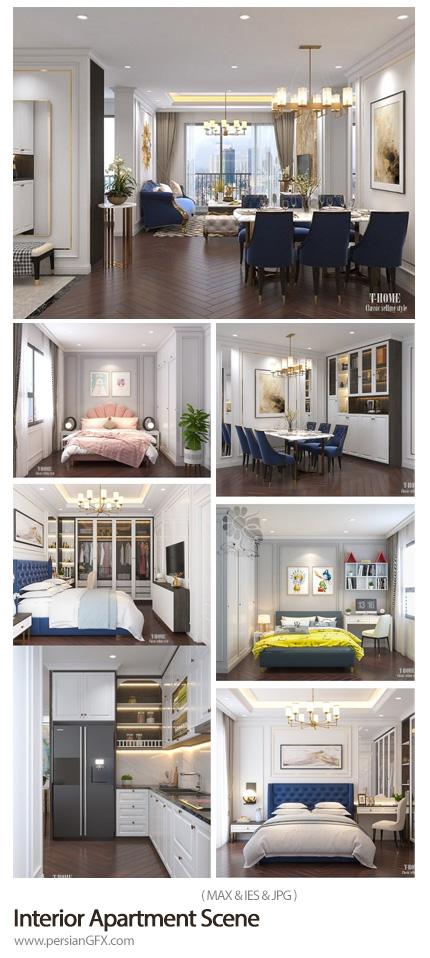 دانلود مدل های سه بعدی طراحی داخلی آپارتمان - Interior Apartment Scene By NguyenNgocTung