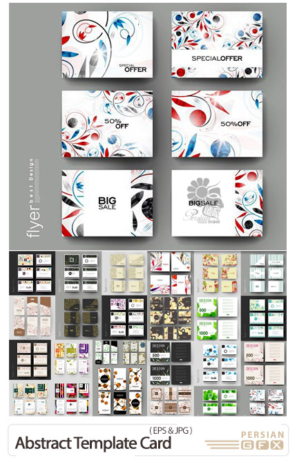 دانلود وکتور کارت ویزیت با طرح های خلاقانه و انتزاعی - Abstract Creative Template Card