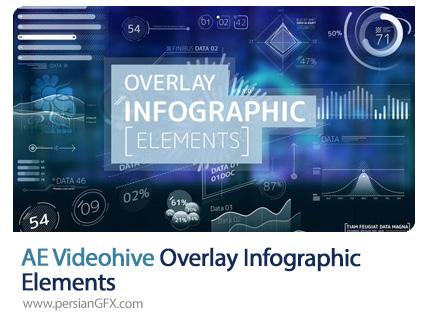 دانلود المان های اینفوگرافیکی شفاف برای افترافکت به همراه آموزش ویدئویی - Videohive Overlay Infographic Elements
