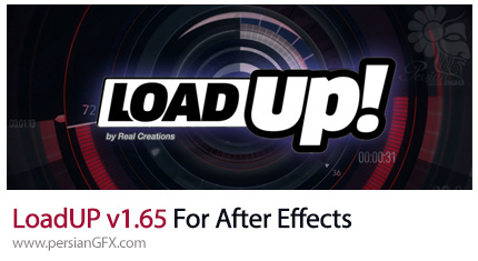 دانلود اسکریپت لود آپ برای ساخت انیمیشن نوار پیشرفت در افترافکت - LoadUP v1.65 For After Effects