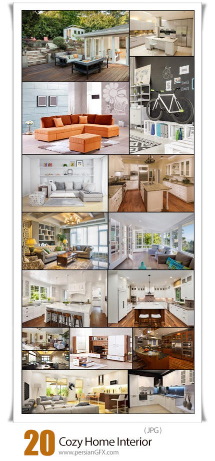 دانلود 20 عکس با کیفیت دکوراسیون داخلی خانه، اتاق خواب، آشپزخانه - Cozy Home Interior