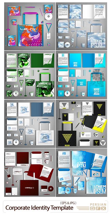 دانلود مجموعه وکتور ست اداری شامل کارت ویزیت، سربرگ، نامه، پاکت نامه و ... - Corporate Identity Template Design Vector Business Set Stationery