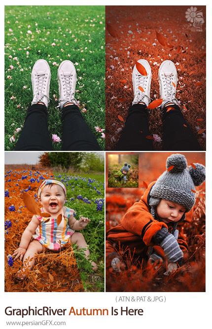 دانلود اکشن فتوشاپ ایجاد افکت پاییزی بر روی تصاویر - GraphicRiver Autumn Is Here