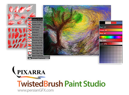 دانلود نرم افزار نقاشی با براش های متنوع - Pixarra TwistedBrush Paint Studio v3.00