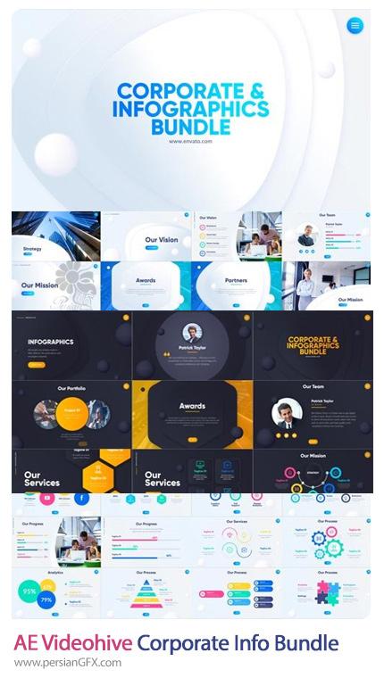 دانلود مجموعه نمودارهای اینفوگرافیکی تجاری برای افترافکت - Videohive Corporate Infographics Bundle