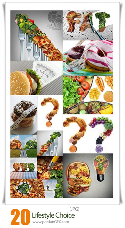 دانلود 20 عکس با کیفیت غذا گیاه خواری و وگان و گوشت خواری - Lifestyle Choice