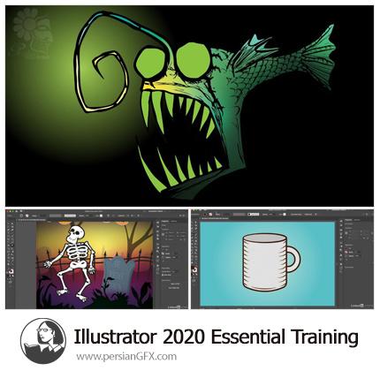 دانلود آموزش نکات ضروری ایلوستریتور سی سی 2020 - Lynda Illustrator 2020 Essential Training