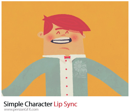 آموزش حرکت لب دهان کاراکتر در افترافکتس - Simple Character Lip Sync