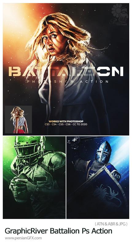 دانلود اکشن فتوشاپ تبدیل تصاویر به پوستر جنگی - GraphicRiver Battalion Photoshop Action