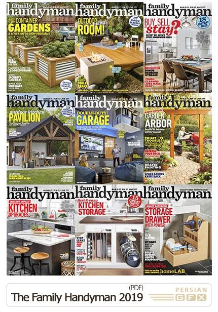 دانلود مجله دکوراسیون داخلی خانه، اتاق خواب، باغ و سالن پذیرایی - The Family Handyman 2019 Full Year Issues Collection
