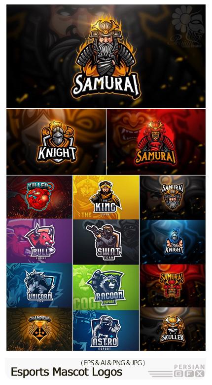دانلود مجموعه آرم و لوگوهای ورزشی Mascot - Esports Mascot Logos