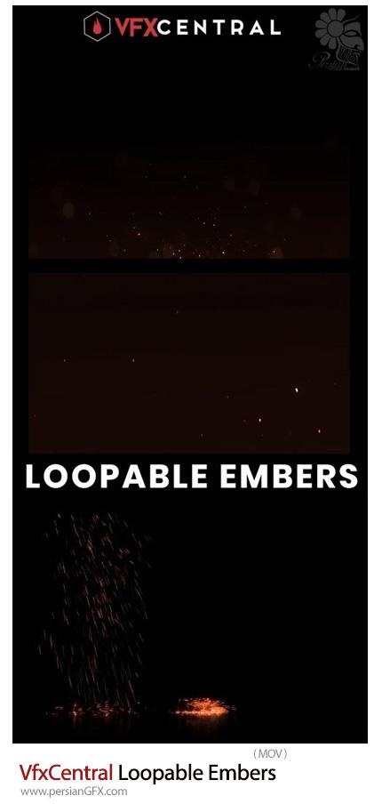 دانلود مجموعه فوتیج غبارهای درخشان - VfxCentral Loopable Embers