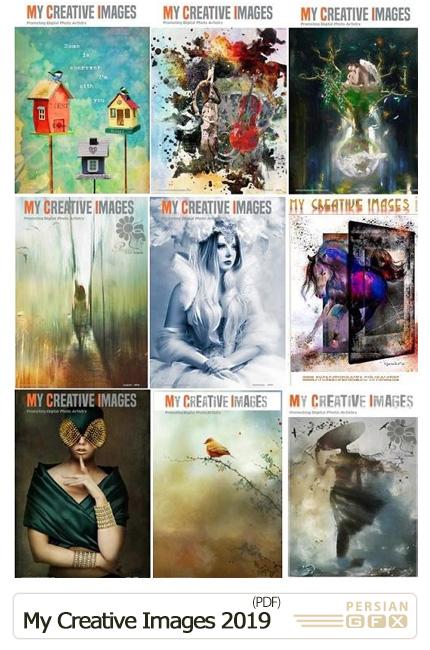 دانلود 12 مجله تصاویر هنری خلاقانه - My Creative Images 2019 Full Year Issues Collection