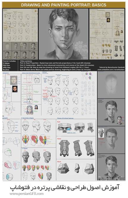 دانلود آموزش اصول طراحی و نقاشی پرتره در فتوشاپ - ArtStation Drawing And Painting Portrait: Basics