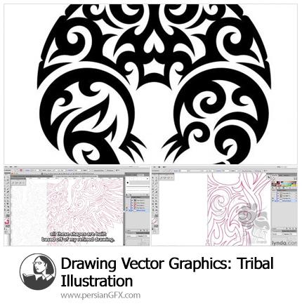 دانلود آموزش ساخت تصاویر وکتور نماد های قبیله ای در ایلوستریتور - Lynda Drawing Vector Graphics: Tribal Illustration