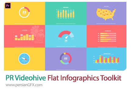 دانلود جعبه ابزار نمودارهای اینفوگرافیکی فلت برای پریمیر به همراه آموزش ویدئویی - Videohive Flat Infographics Toolkit For Premiere Pro