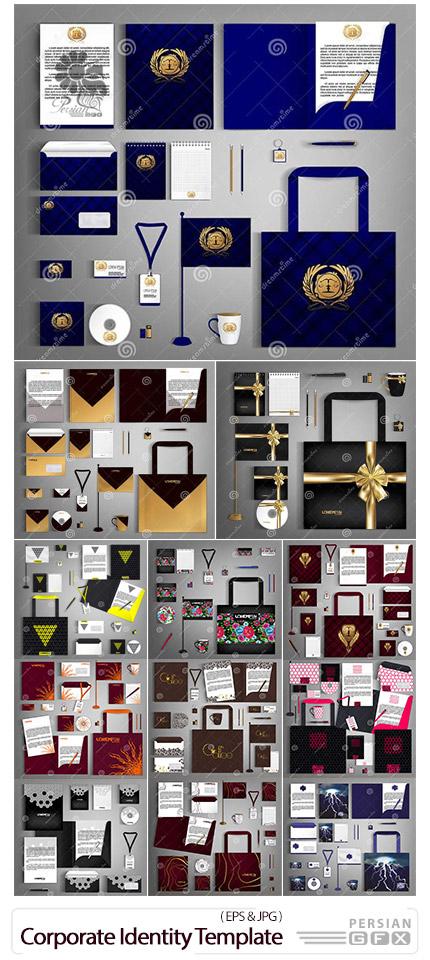 دانلود مجموعه وکتور ست اداری شامل کارت ویزیت، سربرگ، نامه، پاکت نامه و ... با طرح های متنوع  - Corporate Identity Template Design