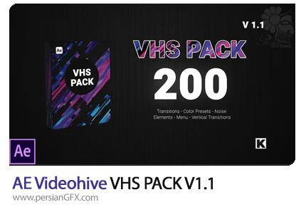 دانلود پک ترانزیشن، المان و منوی آماده برای افترافکت به همراه آموزش ویدئویی - Videohive VHS PACK V1.1
