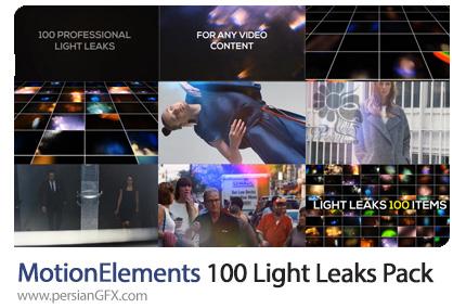 دانلود پروژه افترافکت 100 افکت انتشار نور - MotionElements 100 Light Leaks Pack