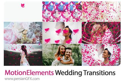 دانلود ترانزیشن های عروسی در افترافکت - MotionElements Wedding Transitions