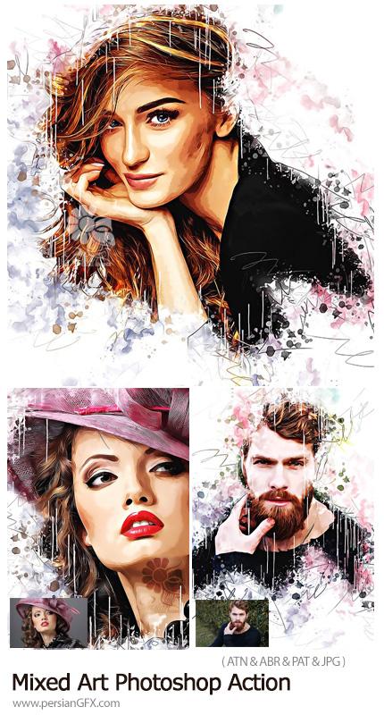 دانلود اکشن فتوشاپ ساخت تصاویر هنری ترکیبی - Mixed Art Photoshop Action