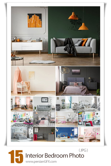 دانلود مجموعه عکس با کیفیت طراحی داخلی اتاق خواب، اتاق کودک و سالن پذیرایی - Interior Bedroom, Living Room, Children Ceautiful Stock Photo
