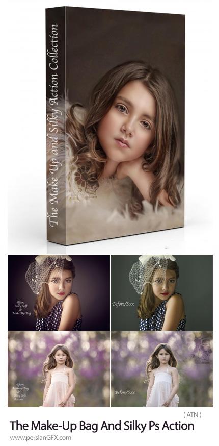 دانلود اکشن فتوشاپ میکاپ و زیباسازی تصاویر - The Make-Up Bag And Silky Photoshop Action Collection