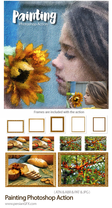 دانلود اکشن فتوشاپ تبدیل تصاویر به نقاشی هنری به همراه آموزش ویدئویی - Painting Photoshop Action