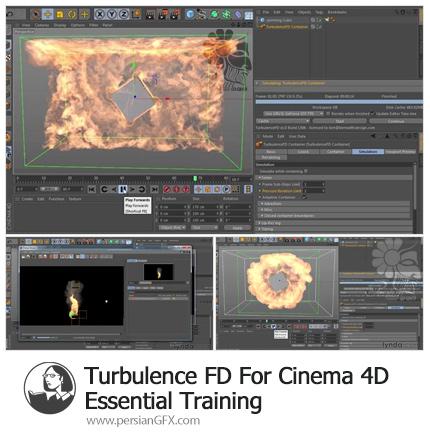 دانلود آموزش پلاگین Turbulence FD برای سینمافوردی - Turbulence FD For Cinema 4D Essential Training