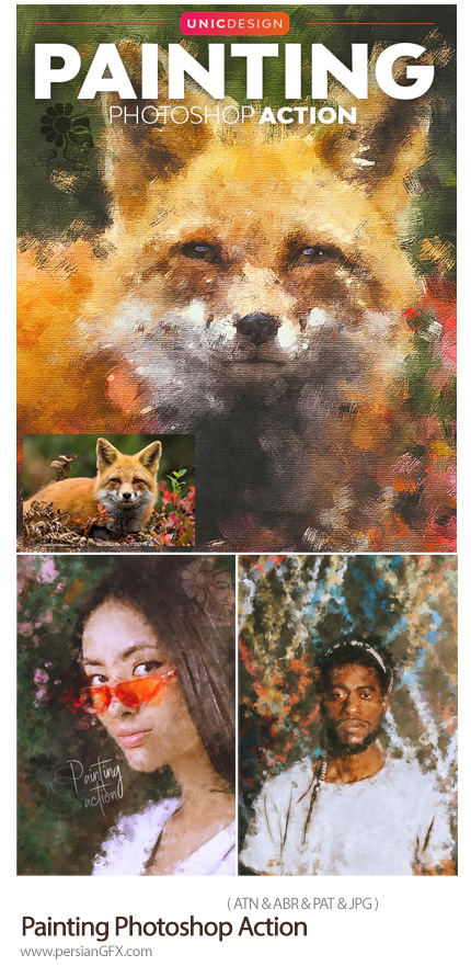 دانلود اکشن فتوشاپ ساخت نقاشی هنری از تصاویر به همراه آموزش ویدئویی - Painting Photoshop Action