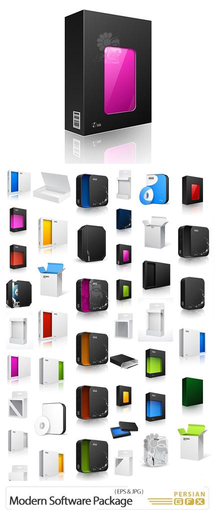 دانلود مجموعه پکیج های مدرن نرم افزار - Opened Modern Black Software Package