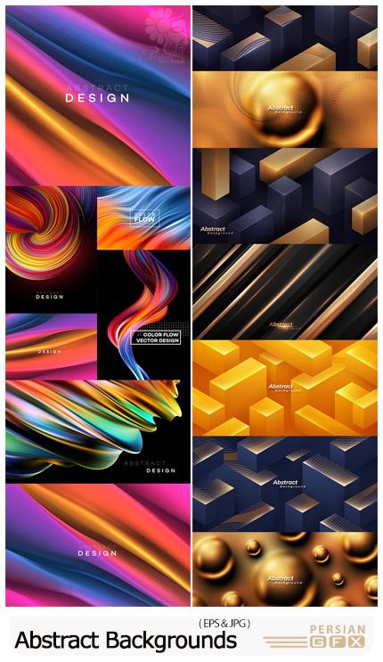دانلود مجموعه بک گراند با طرح های انتزاعی و هندسی مدرن - Modern Color Abstract And Geometric Background