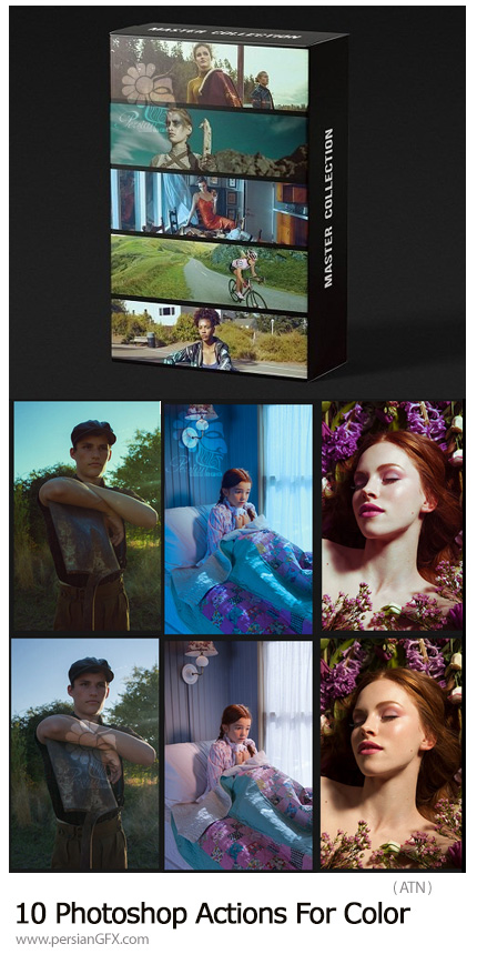 دانلود 10 اکشن فتوشاپ برای تغییر رنگ تصاویر - 10 Photoshop Actions For Color