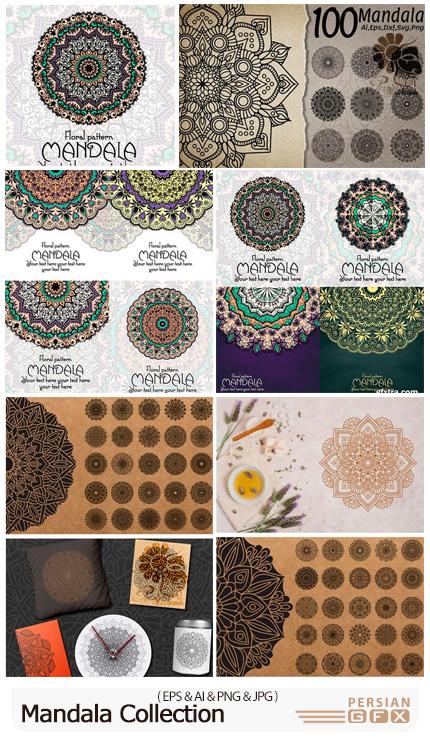 دانلود وکتور طرح های آماده ماندالا و اسلیمی - Mandala Collection