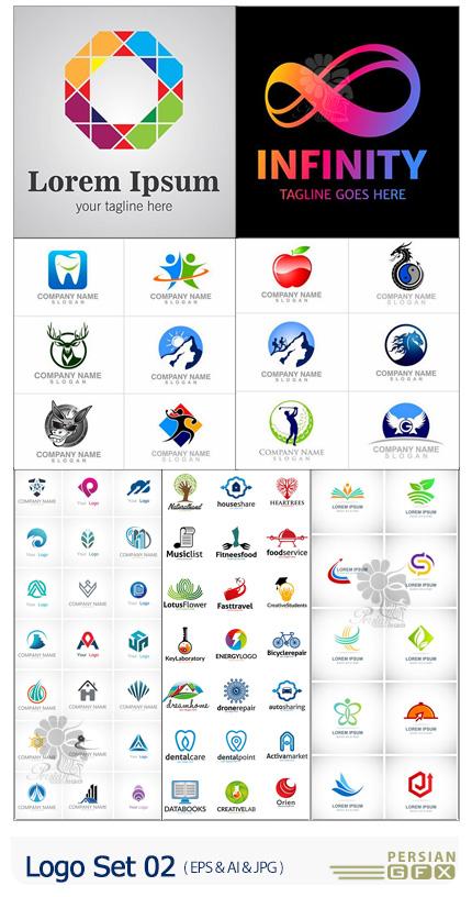 دانلود 99 وکتور آرم و لوگو با طرح های متنوع - Logo Set 02