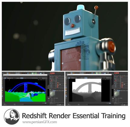 دانلود آموزش مقدماتی کار با موتور ردشیفت در سینمافوردی - Redshift Render Essential Training
