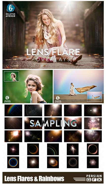 دانلود تصاویر پوششی لنز فلر و رنگین کمان - Lens Flares & Rainbows