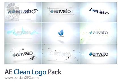 دانلود پک نمایش لوگوهای شفاف در افترافکت به همراه آموزش ویدئویی - Clean Logo Pack