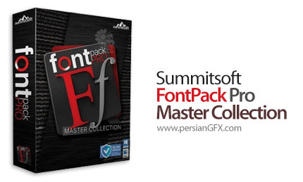 دانلود نرم افزار مدیریت فونت بهمراه مجموعه ای از فونت های انگلیسی - Summitsoft FontPack Pro Master Collection 2020