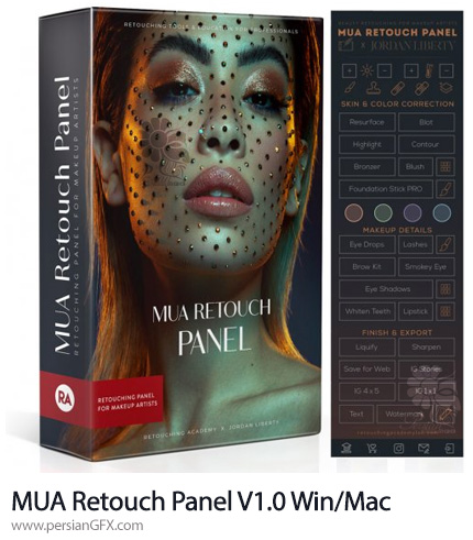 دانلود پنل فتوشاپ روتوش Retouching Academy MUA Retouch Panel V1.0 Win/Mac