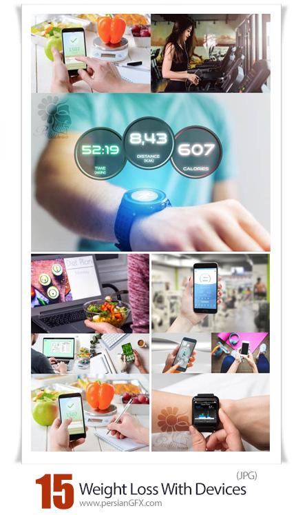 دانلود مجموعه تصاویر کاهش وزن با مواد غذایی سالم و دستگاه های مدرن - Weight Loss With Modern Devices