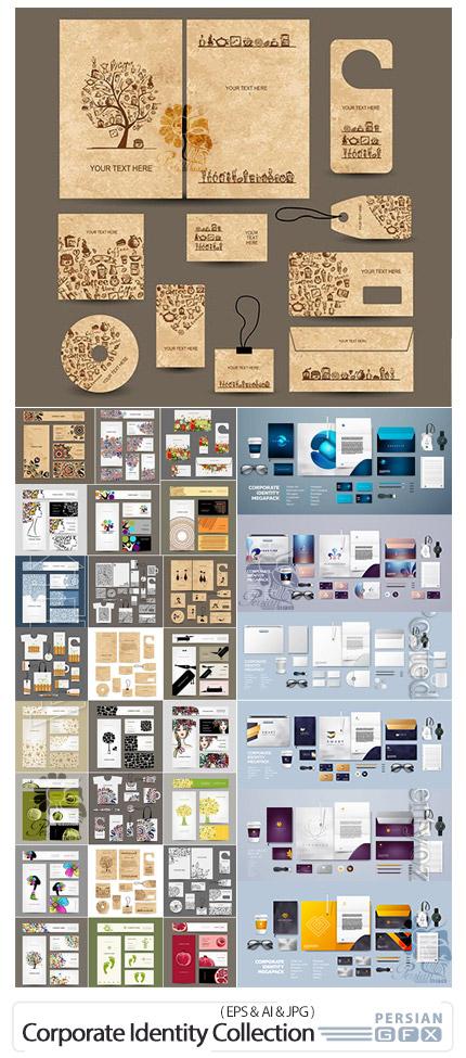 دانلود پک ست اداری وکتور شامل کارت ویزیت، پاکت نامه، سربرگ و ... - Corporate Identity Collection