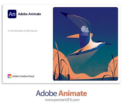 دانلود نرم افزار ادوبی انیمیت 2021 - Adobe Animate 2021 v21.0.0.35450 x64