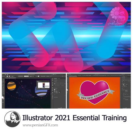 دانلود آموزش نکات ضروری ایلوستریتور 2021 - Illustrator 2021 Essential Training