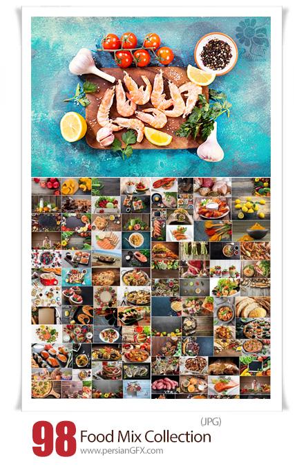 دانلود 98 عکس با کیفیت غذاهای ترکیبی پخته و خام - Food Mix Collection
