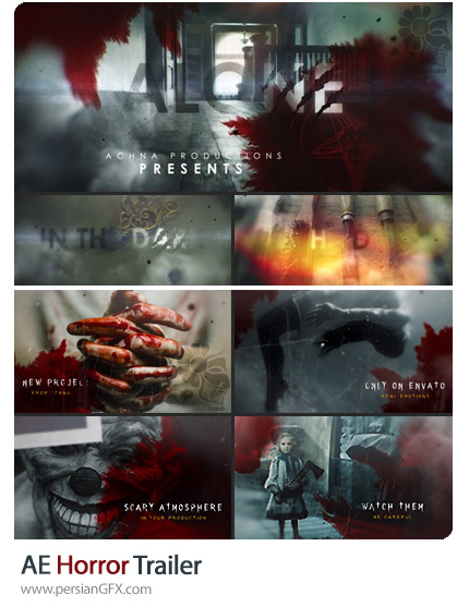 دانلود 2 پروژه افترافکت تریلر فیلم ترسناک به همراه آموزش ویدئویی - Horror Trailer